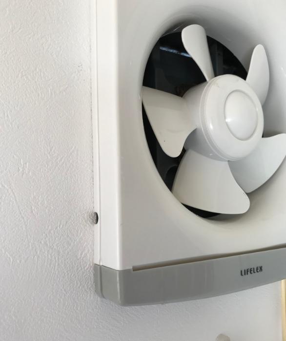 壁埋め込み換気扇