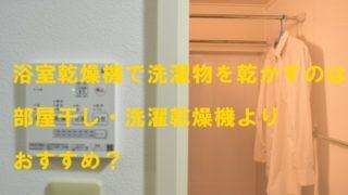 浴室乾燥機で洗濯物乾燥
