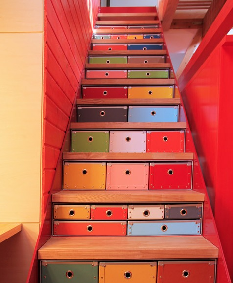 階段収納リフォーム