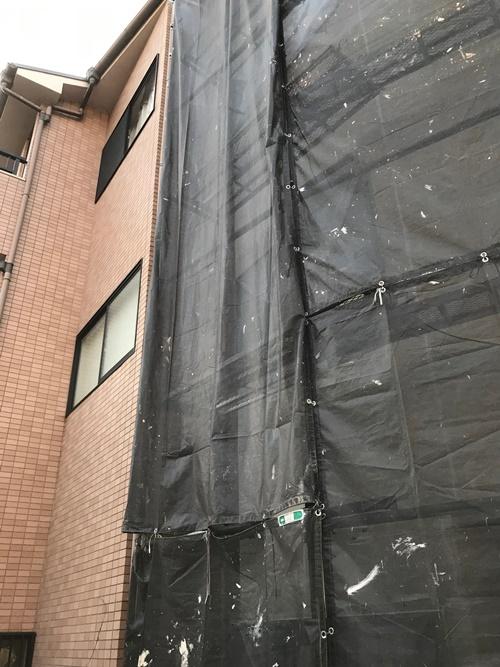 外壁塗装足場注意
